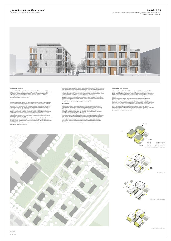 Neue Stadtmitte Rheinstetten Baufeld B 2.3